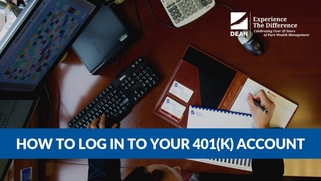 Cover photo for video and blog post on how to log in to your 401(k) account managed by C.H. Dean, LLC